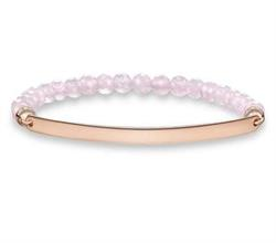 Thin Rose Gold Love Bridge Quartz Bracelet Medium