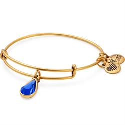 September Sapphire Birthstone bangle in Rafaelian Gold Finish