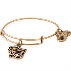 Eye of Horus Bangle in Rafaelian Gold