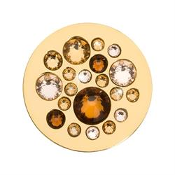 Sparkling Gold and Bronze Swarovski Coin 23mm