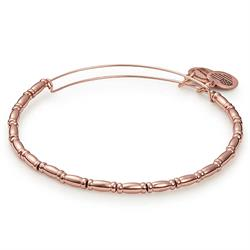 Reed Beaded Bangle in Shiny Rose Gold