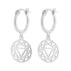 Solar Plexus Chakra Silver Drop Earrings