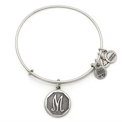 M Initial Bangle in Rafaelian Silver