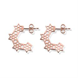 Buy ChloBo 'Inner Spirit' Rose Gold Plated Star Hoop Earrings