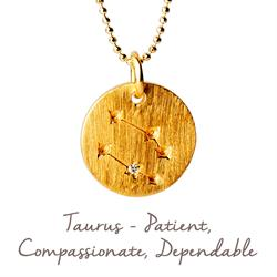 Taurus Star Map in Gold