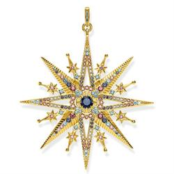 thomas Sabo Large Gold Royalty Star Pendan