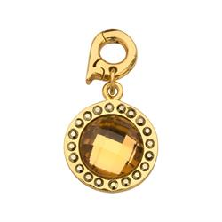 Nikki Lissoni Sale Chic Bronze Mirror Glass Charm Pendant