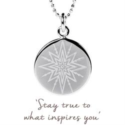 Inspiring Star Disc Necklace in Sterling Silver