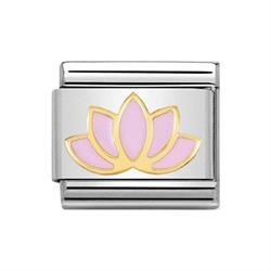Classic Gold Nature Lotus Flower Charm