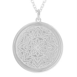 Love Mandala myMantra Necklace in Sterling Silver