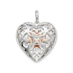 GLAM & SOUL Silver Locket Heart Pendant
