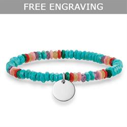 Turquoise Love Bridge Bracelet Medium