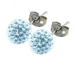 Candeur 6mm Ice Blue Studs