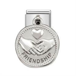 Silver Friendship Coin Charm