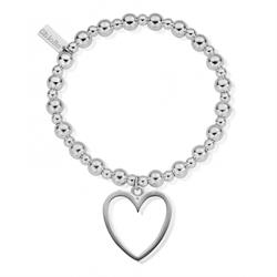 Mini Small Ball Open Heart Bracelet