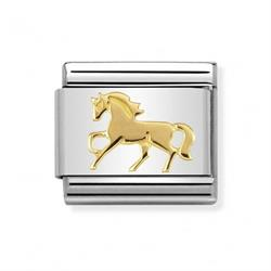 Gold Galloping Horse Charm