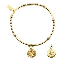 Gold Cute Live Love Life Bracelet