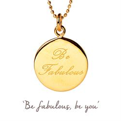Be Fabulous Mantra Necklace in Gold