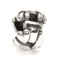 Letter T Silver Charm Bead