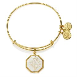 Alex and Ani Fortune's Bliss Sweet Pea in Shiny Gold Finish