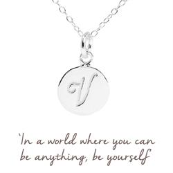 V Mantra Initial Necklace