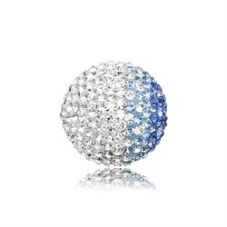 Blue and White Crystal Sound Ball Medium