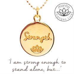 Strength Charity Mantra for MIND in Gold