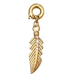 Feather Gold Charm