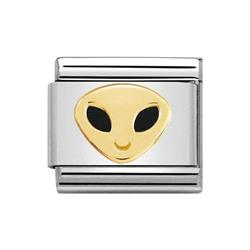 Gold Alien Face Charm