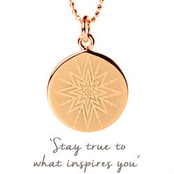 Inspiring Star Disc Necklace in Rose Gold