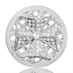 Sparkling Celtic Cross Silver Coin 33mm