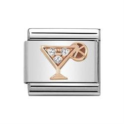 Classic Rose Gold Symbols Cocktail Charm