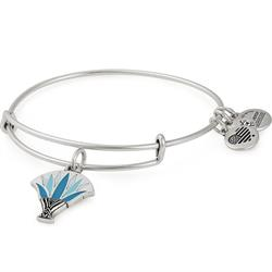 Blue Lotus Bangle in Rafaelian Silver
