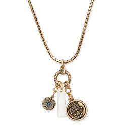 Protection Trio Necklace in Rafaelian Gold