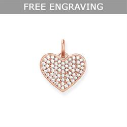 Rose Gold CZ Pave Heart Pendant