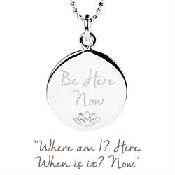 Be Here Now Disc Necklace in Sterling Silver