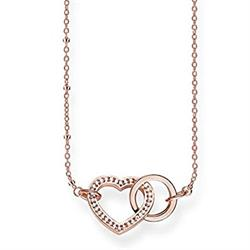 Rose Gold Together Heart Necklace