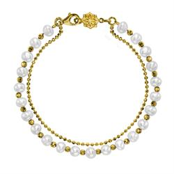 Dower and Hall 18ct Gold Vermeil Pearl Orissa Bracelet