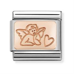 Rose Gold Angel of Love Charm