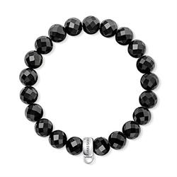 Mini Black Obsidian Medium Charm Bracelet