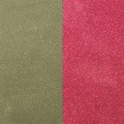 Aloe Khaki / Pink Sparkle Wide Leather