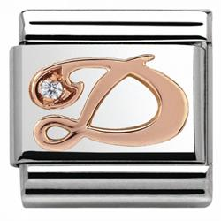 Buy Nomination Rose Gold CZ Letter D