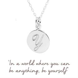 Y Mantra Initial Necklace