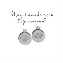 Lotus Renewed Earrings in Silver