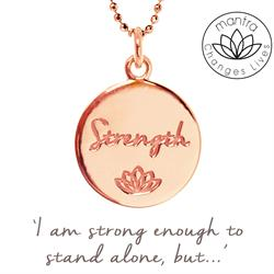 Strength Charity Mantra for MIND in Rose Gold
