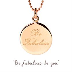 Be Fabulous Mantra Necklace in Rose Gold