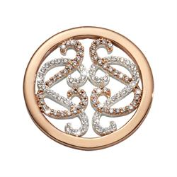 Rose Gold Embrace Lace Coin 23mm