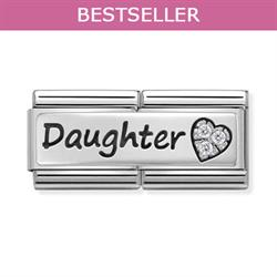 Nomination Daughter CZ Double Link Charm