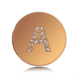 Letter A Small Gold Coin