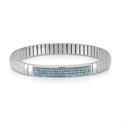 Silver and Blue Swarovski Extension Bracelet by Nomination